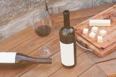 κενό κρασί ετικετών μπουκ Στοκ φωτογραφία με δικαίωμα ελεύθερης χρήσης