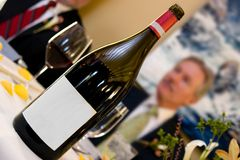κενό κρασί ετικετών Στοκ Εικόνες