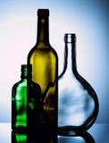 κενό κρασί μπουκαλιών Στοκ εικόνα με δικαίωμα ελεύθερης χρήσης
