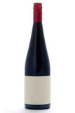 κενό κόκκινο κρασί μπουκ&alph Στοκ Εικόνα