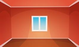 κενό κόκκινο δωμάτιο απεικόνιση αποθεμάτων