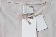 κενό λευκό κειμένων ετικ&ep Στοκ Φωτογραφίες
