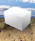 κενό λευκό κιβωτίων υπαίθρια Στοκ εικόνα με δικαίωμα ελεύθερης χρήσης