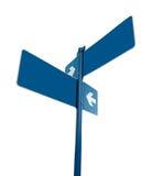 κενό λευκό οδικών σημαδιώ Στοκ Φωτογραφίες