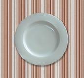 κενό λευκό πιάτων γευμάτω&nu Στοκ Φωτογραφίες