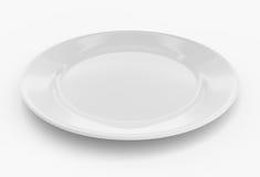 κενό λευκό πιάτων Στοκ Εικόνα