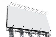 κενό λευκό πινάκων διαφημί&sig Στοκ Φωτογραφία
