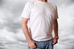 κενό λευκό πουκάμισων τ Στοκ φωτογραφία με δικαίωμα ελεύθερης χρήσης
