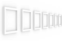 κενό λευκό σειρών πλαισίω διανυσματική απεικόνιση