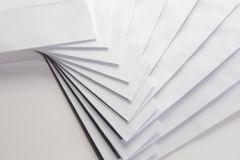 κενό λευκό φακέλων Στοκ Εικόνες