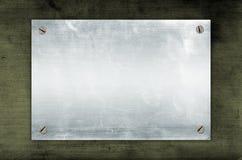 κενό μεταλλικό πιάτο Στοκ Φωτογραφίες