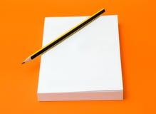κενό μολύβι βιβλίων Στοκ Εικόνα