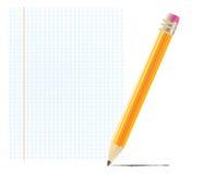 κενό μολύβι εγγράφου απεικόνιση αποθεμάτων