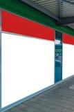 Κενό μπροστινό παράθυρο καταστημάτων ως διάστημα αντιγράφων για το σχέδιο γραφικής παράστασης Στοκ Εικόνες