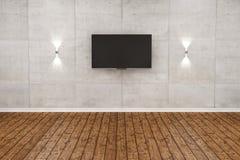 Κενό ξύλινο πάτωμα και άσπρο δωμάτιο τοίχων Στοκ φωτογραφίες με δικαίωμα ελεύθερης χρήσης