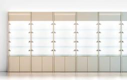 Κενό ξύλινο πρότυπο σχεδίου προθηκών, Στοκ Φωτογραφίες