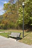 κενό πάρκο πάγκων στοκ εικόνα