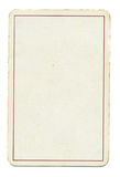 Κενό παίζοντας υπόβαθρο εγγράφου καρτών με τη γραμμή που απομονώνεται στο λευκό Στοκ Εικόνες