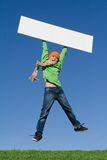 κενό πηδώντας σημάδι παιδιών Στοκ Φωτογραφίες