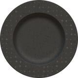 Κενό πιάτο αργίλου πορσελάνης με το διακοσμητικό πλαίσιο Στοκ φωτογραφίες με δικαίωμα ελεύθερης χρήσης