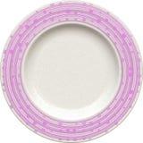 Κενό πιάτο αργίλου πορσελάνης με το διακοσμητικό πλαίσιο Στοκ Εικόνες