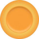 Κενό πιάτο αργίλου πορσελάνης με το διακοσμητικό πλαίσιο Στοκ φωτογραφία με δικαίωμα ελεύθερης χρήσης