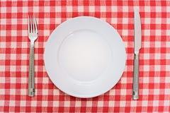 κενό πιάτο γευμάτων Στοκ Φωτογραφίες