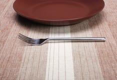 κενό πιάτο δικράνων Στοκ εικόνα με δικαίωμα ελεύθερης χρήσης