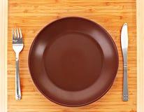 κενό πιάτο δικράνων kinfe Στοκ εικόνες με δικαίωμα ελεύθερης χρήσης