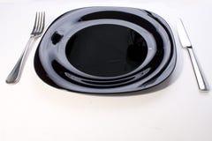κενό πιάτο μαχαιριών δικράν&omega Στοκ εικόνες με δικαίωμα ελεύθερης χρήσης