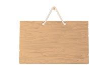 κενό πιάτο ξύλινο Στοκ Εικόνες