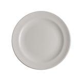 Κενό πιάτο στην άσπρη ανασκόπηση Στοκ εικόνες με δικαίωμα ελεύθερης χρήσης