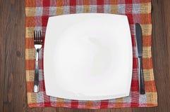 Κενό πιάτο στοκ φωτογραφίες με δικαίωμα ελεύθερης χρήσης