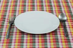Κενό πιάτο tabletop Στοκ φωτογραφία με δικαίωμα ελεύθερης χρήσης
