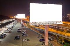 κενό πινάκων διαφημίσεων για την υπαίθρια αφίσα διαφήμισης ή κενό billboar Στοκ εικόνα με δικαίωμα ελεύθερης χρήσης