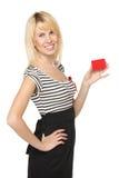 κενό πιστωτικό κορίτσι καρτών Στοκ Εικόνες