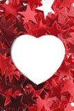 Κενό πλαίσιο καρδιών Στοκ φωτογραφία με δικαίωμα ελεύθερης χρήσης