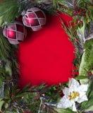 κενό πλαίσιο Χριστουγένν&om Στοκ Φωτογραφία