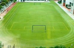 κενό ποδόσφαιρο πεδίων Στοκ εικόνες με δικαίωμα ελεύθερης χρήσης