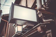 Κενό που διαφημίζει lightbox στοκ φωτογραφία