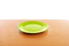 κενό πράσινο πιάτο Στοκ φωτογραφίες με δικαίωμα ελεύθερης χρήσης
