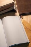Κενό πρότυπο βιβλίων ανάγνωσης Στοκ Εικόνες