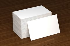 Κενό πρότυπο επαγγελματικών καρτών - πρότυπο, τρισδιάστατη απεικόνιση στοκ εικόνα με δικαίωμα ελεύθερης χρήσης