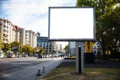 Κενό πρότυπο πινάκων διαφημίσεων για τη διαφήμιση στοκ φωτογραφίες με δικαίωμα ελεύθερης χρήσης