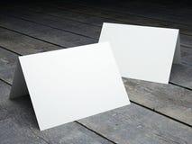 Κενό πρότυπο της διπλωμένης κάρτας Στοκ Φωτογραφία