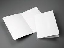 Κενό πρότυπο του διπλωμένου μεγέθους φυλλάδιων A4 Στοκ Εικόνα