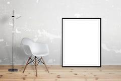 Κενό πλαίσιο αφισών για το πρότυπο Στοκ φωτογραφία με δικαίωμα ελεύθερης χρήσης