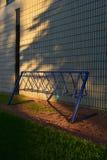 Κενό ράφι ποδηλάτων στοκ φωτογραφία