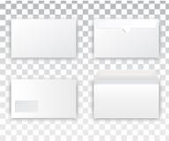 Κενό ρεαλιστικό λευκό φακέλων Στοκ Εικόνες