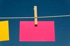 κενό ροζ ευρετηρίων καρτών Στοκ Εικόνα